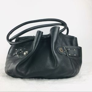 Cole Haan Denney Pebbled Leather Hobo Purse